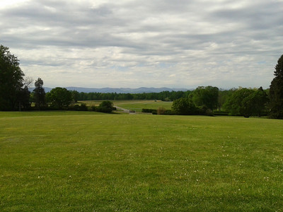 James Madison's front lawn and view from his front porch.