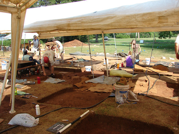Constant archaeology digs go on at James Madison's Montpelier.  You can join PhD staff archaeologists on a week-long dig!